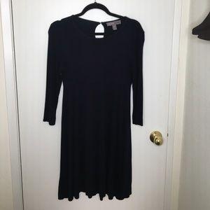 Navy Blue 3/4 Sleeve Dress